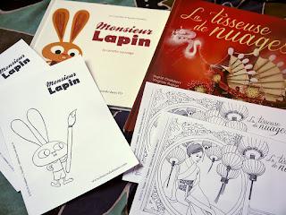 Coloriages à imprimer : Monsieur Lapin et La tisseuse de nuages