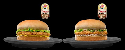 Get both delicious variants of Burger King's Chicken Crisp Fillet – sweet and tangy honey mustard or zesty garlic mayo with real garlic bits.