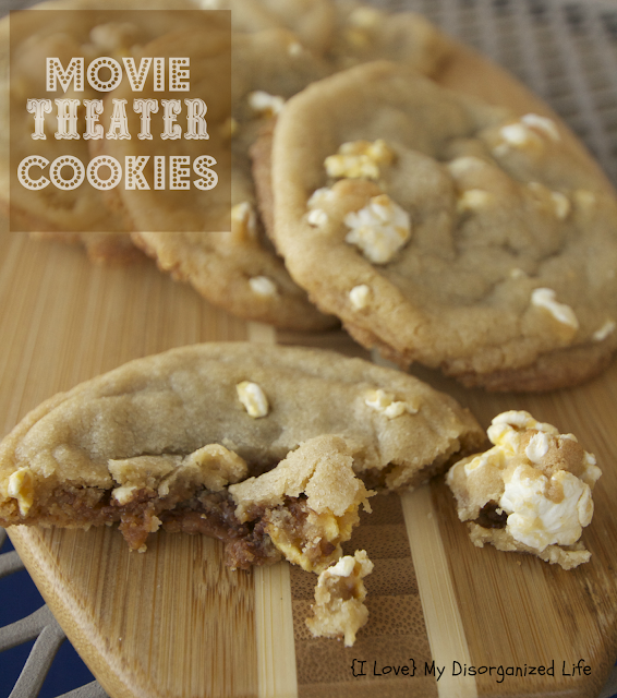 Movie Theater Cookies/ {I Love} My Disorganized Life #cookies #popcorn #milkduds