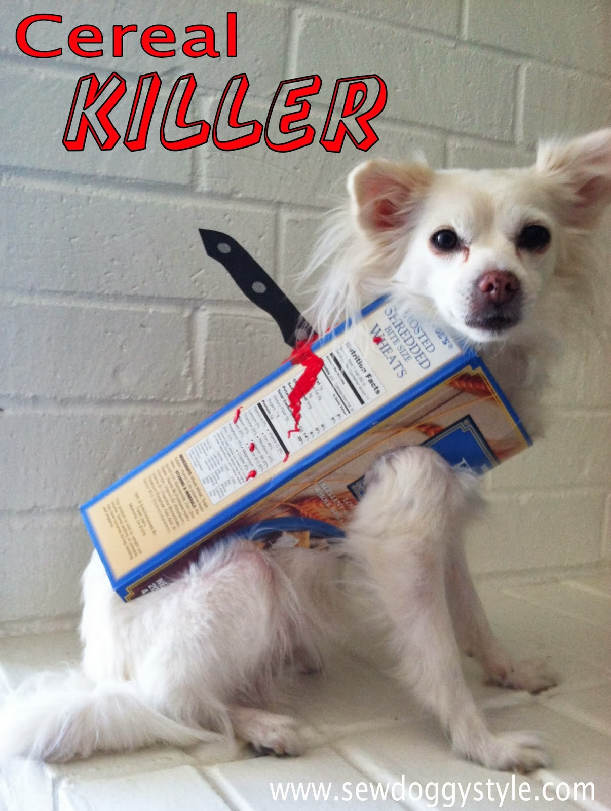 Sew doggystyle last minute diy halloween costume cereal killer last minute diy halloween costume cereal killer ccuart Gallery