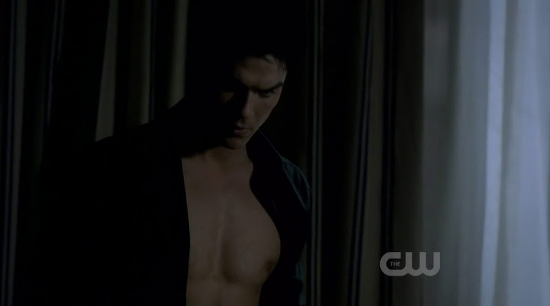 Ian Somerhalder Shirtless in The Vampire Diaries s3e19