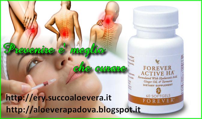 Forever active ha- acido ialuronico per prevenire l'invecchiamento