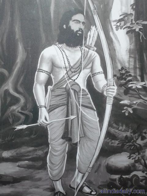 A portrait of Alluri Sitaramaraju
