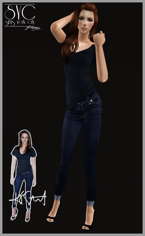 Sims 3 celebrity casual outfit