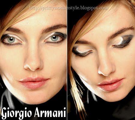 Грим котешки очи Giorgio Armani