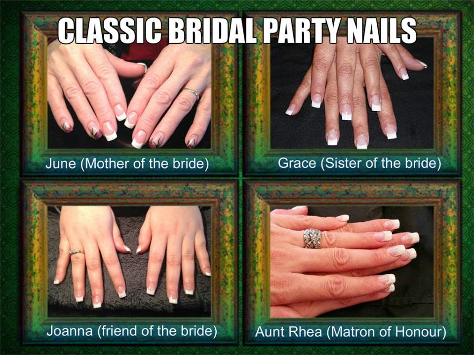 Acrylic sculpt replacements, acrylic overlay + Shellac French white manicure