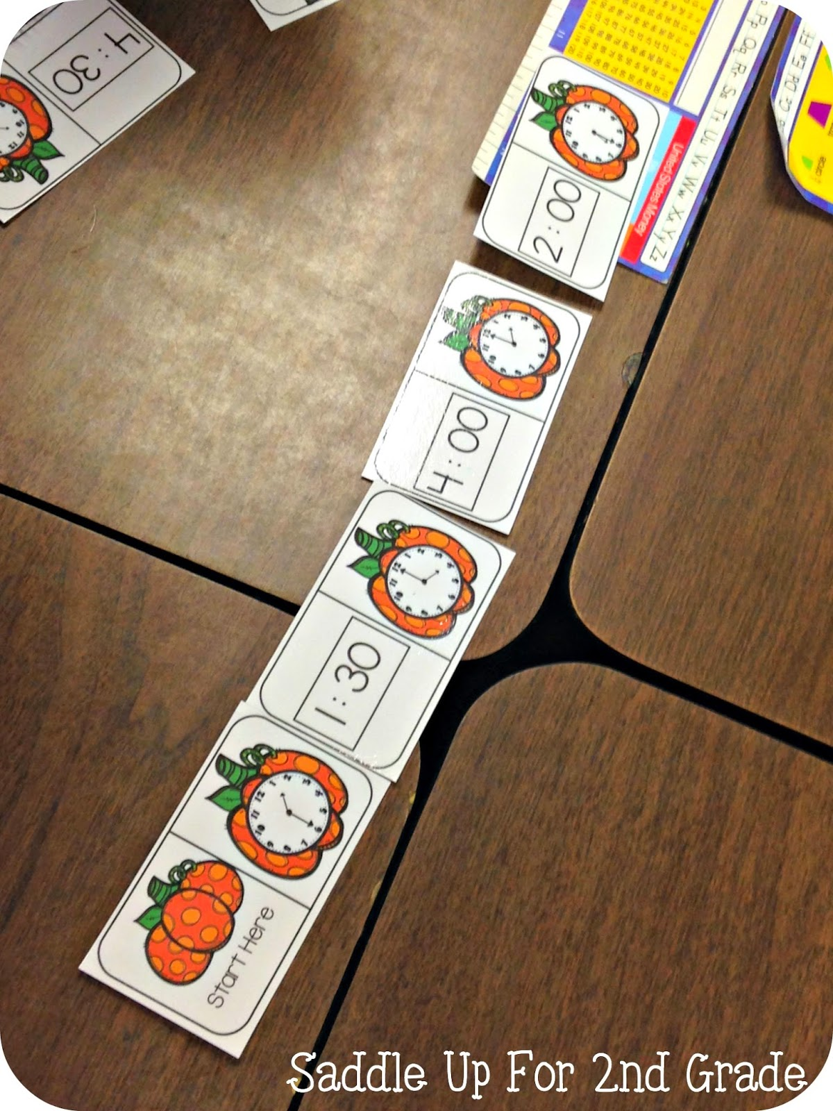 Pumpkin Time Domino Match by Saddle Up For 2nd Grade