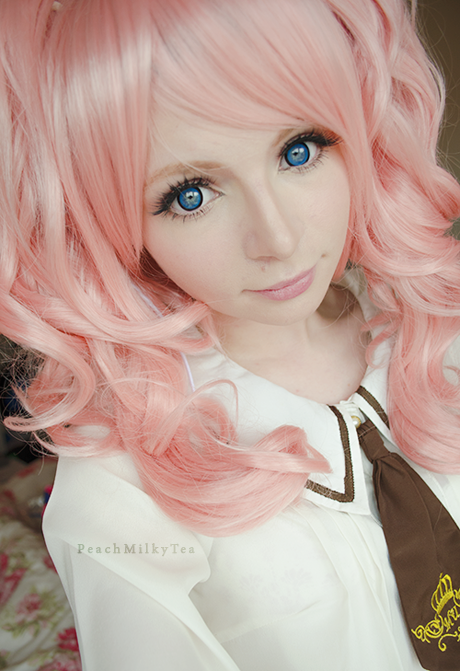Cute Twin Tail Pastel Pink Wig: Dangan Ronpa Wig