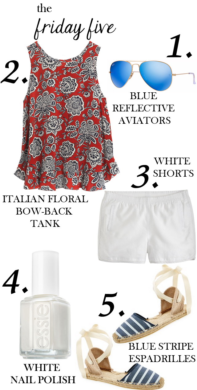 the friday five subtle patriotic outfit M Loves M @marmar