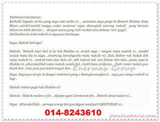 Blog Jom Sihat Ceria, Carotomax, FB Page, Independent SHAKLEE Distributor, Pengedar Shaklee Kuantan, Produk SHAKLEE, Testimoni Carotomax, COD,