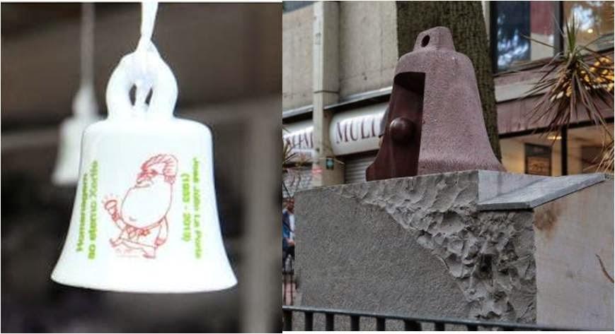 Sino - em souvenir e em escultura - homenageia La Porta