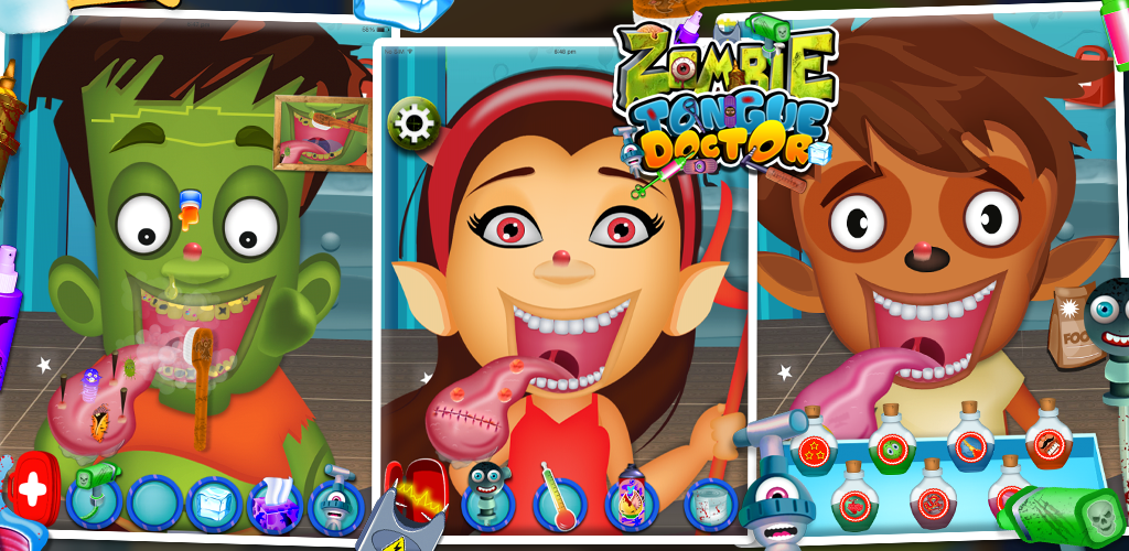 zombie tongue doctor - free kids game