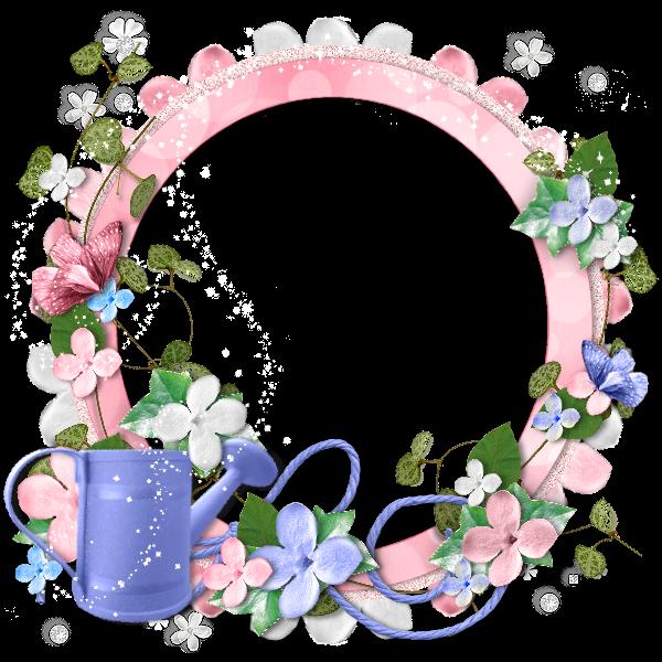 Ksdesignz ftu cluster frame pink flowers for Cadre floral mural