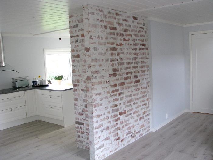 Murvegg inne interiør