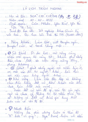 cách viết đơn xin việc viết tay