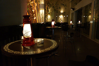terrace bar with fairy light lanterns- event design by objet bart