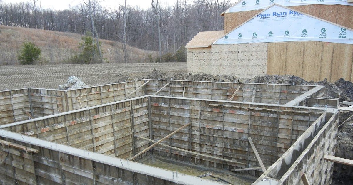 Ryan Homes Is Where The Heart Is Basement Walls Poured