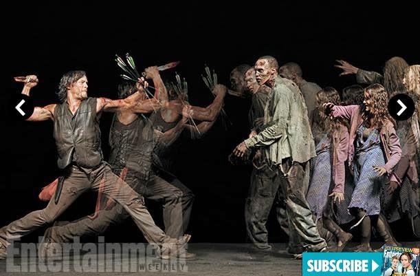 Norman Reedus como Daryl Dixon en EW y la 5ª temporada de The Walking Dead