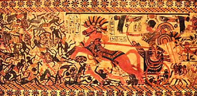 adaptation of the hyksos over egypt The composite bow was able to shoot arrows over longer distances and allowed the hyksos in their horse drawn chariots to defeat any resistance they encountered while migrating into egypt.
