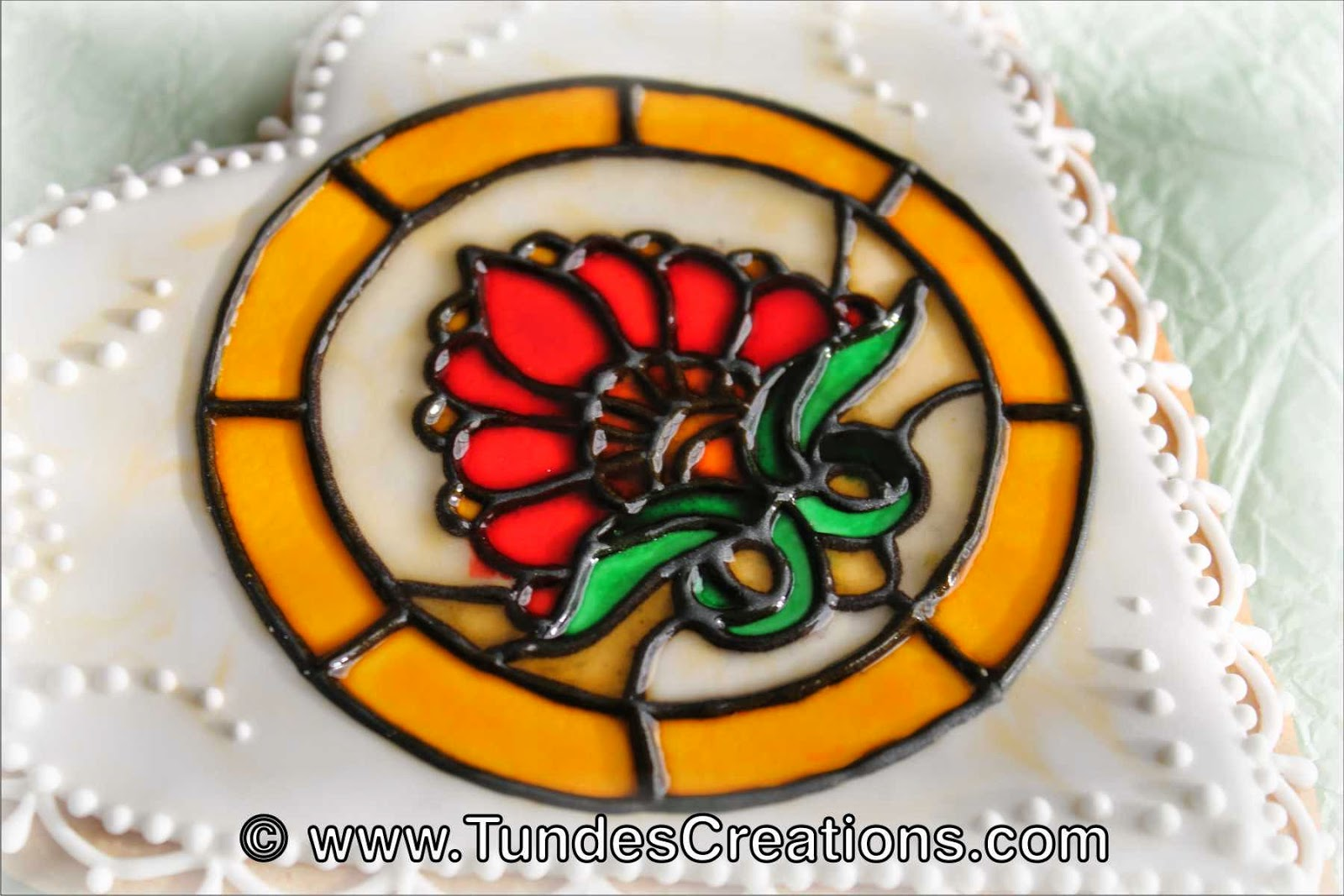 Stained Glass Cookie by Tunde Dugantsi