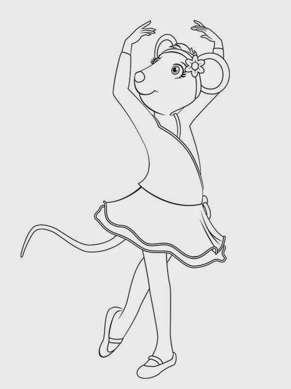 angelina ballerina alice coloring pages - photo#20