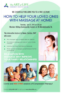 Massage at Home, Interactive presentation by Nodar Zaridze, RMT, Toronto