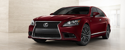2013 Lexus LS460 F Sport Matador Red Mica
