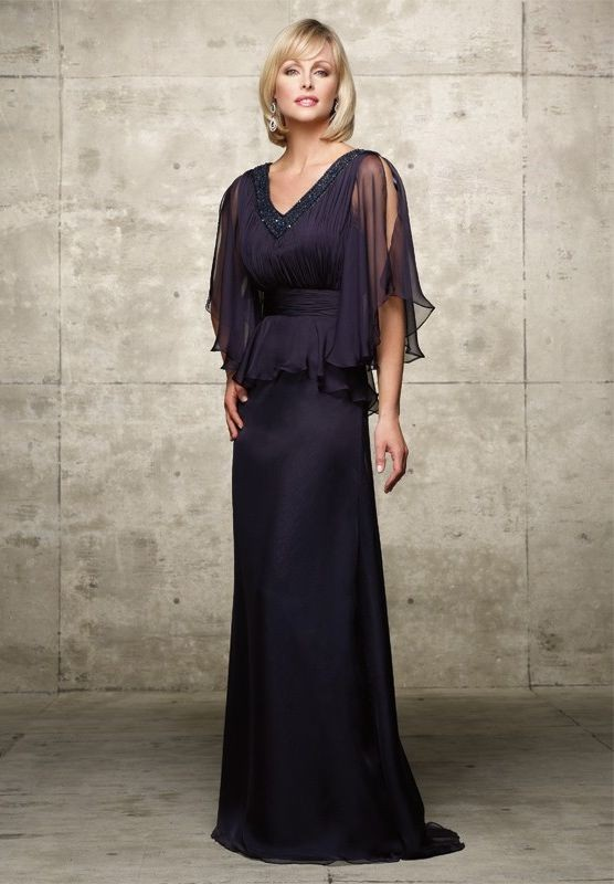 mother of the bride dress with sleeves