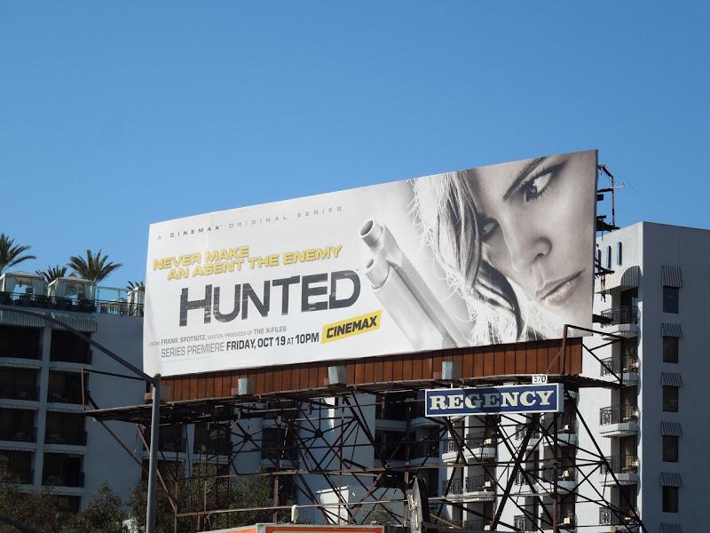 Hunted TV billboard