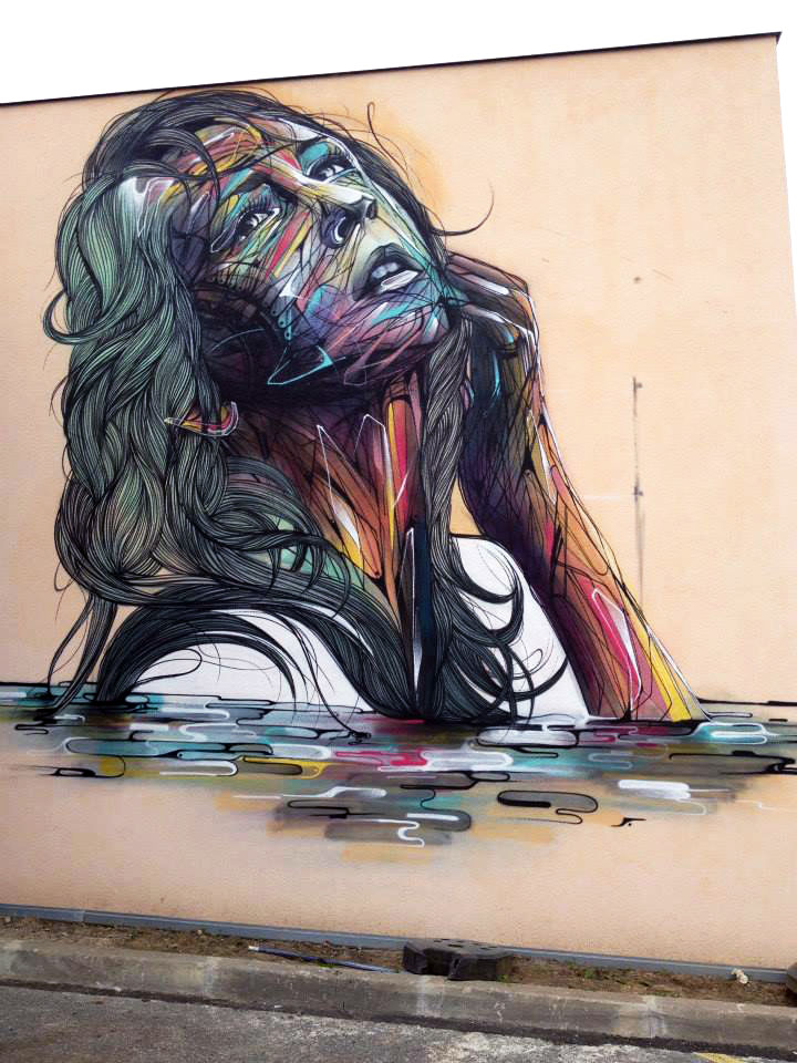 Hopare new mural in orsay france streetartnews for Best mural artist