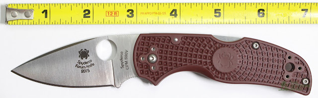 Spyderco 2015 Forum Native - Next To Ruler
