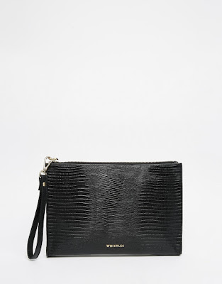 Leather Lizard Wristlet Clutch from Whistles
