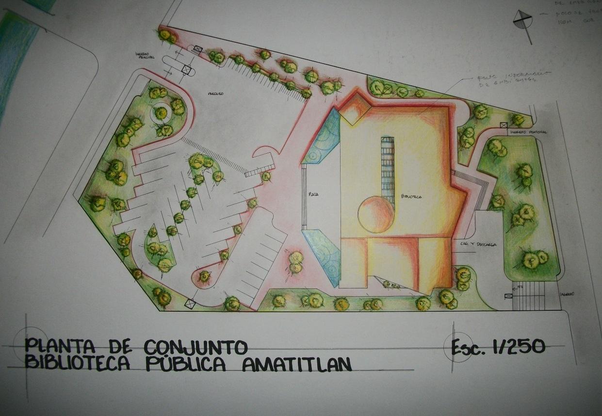 Arqitec2 dise o arquitect nico 2 biblioteca municipal for Planta arquitectonica biblioteca
