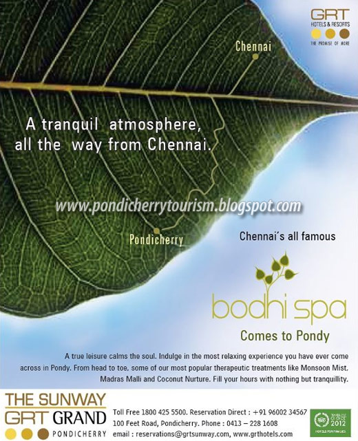 Bodhi Spa in Pondicherry GRT Hotel