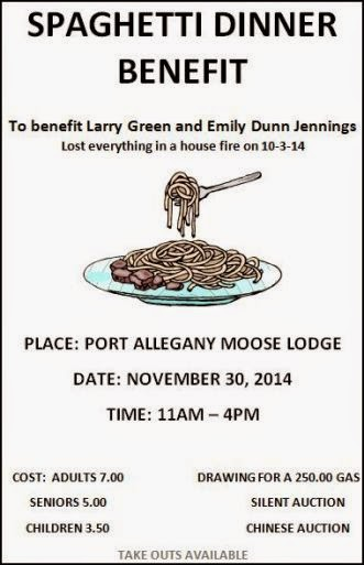 11-30 Spaghetti Dinner Benefit