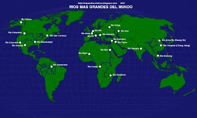 Mapamundi, seterra, nombre de los rios del mundo