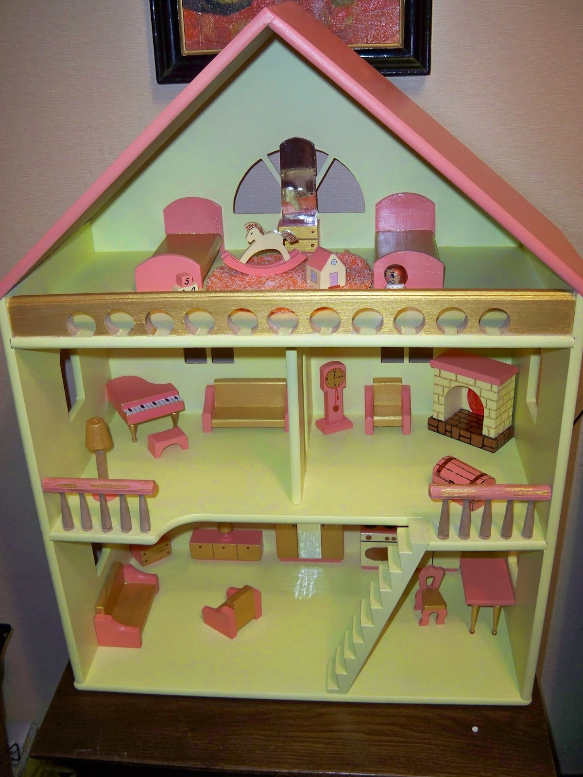Как сделать из коробки кукольный домик 451