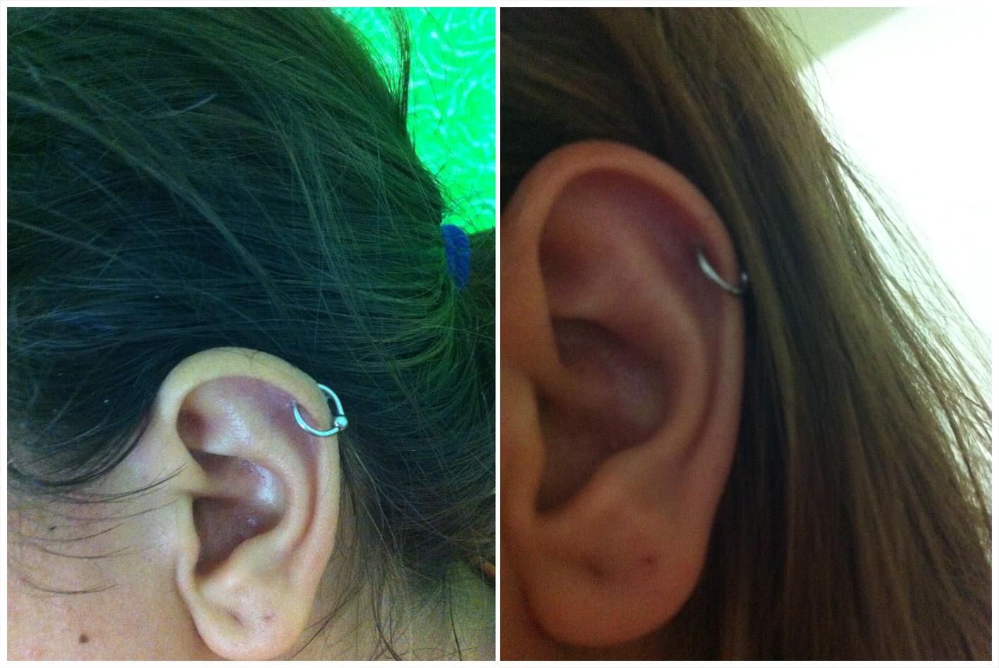 piercing de argolinha na cartilagem da orelha