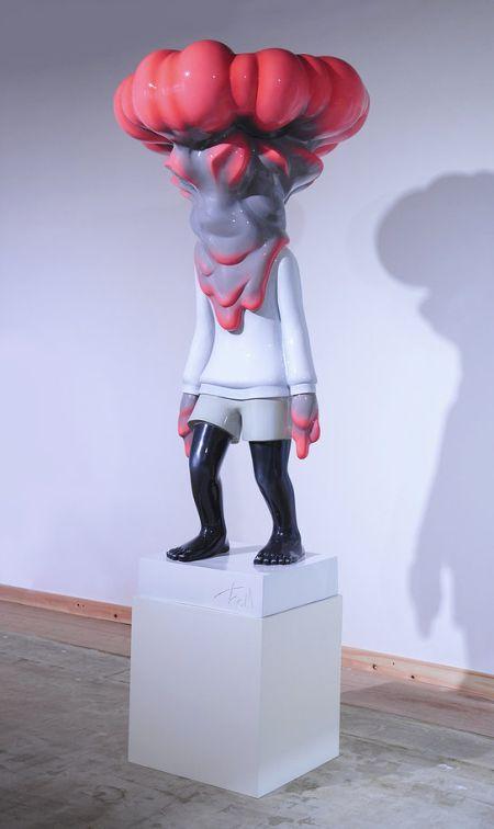 Takahiro Komuro esculturas macabras bizarras coloridas fofas monstros
