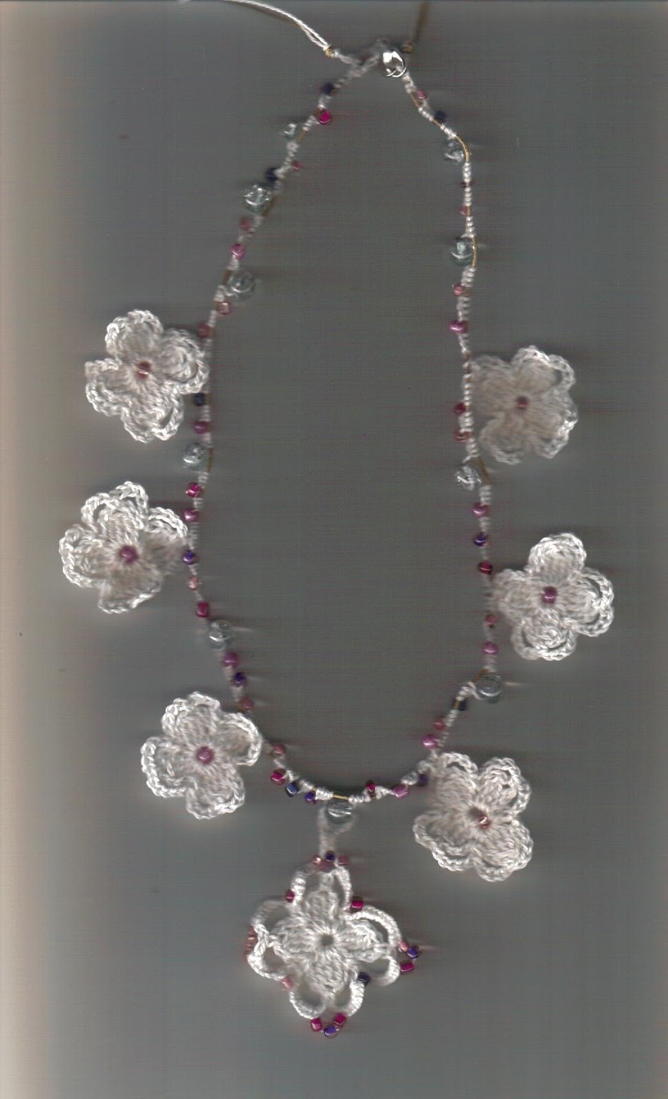 Crochet Jewelry : Flowers Of Spring Beaded Crochet Jewelry #1