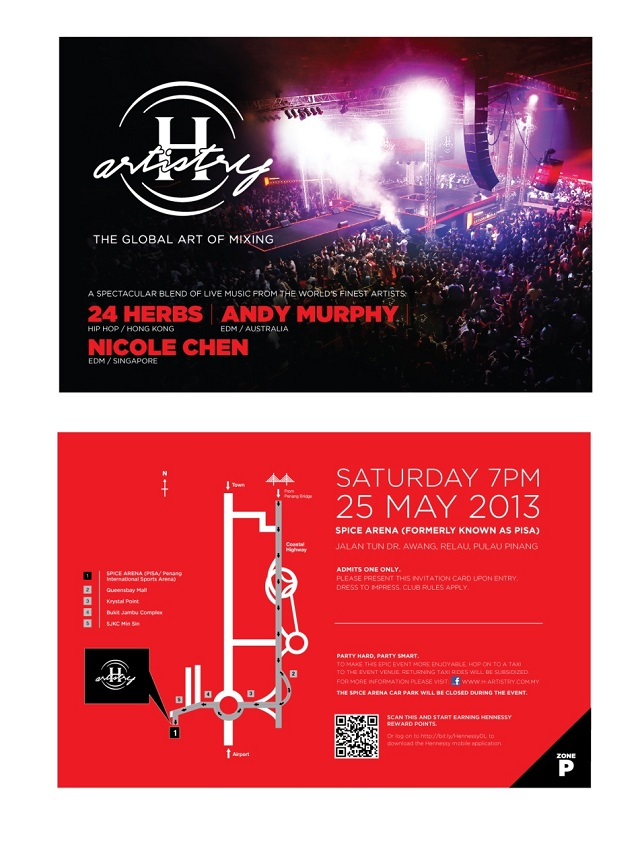 Details to the super clubbing event H-Artistry 2013 in Penang