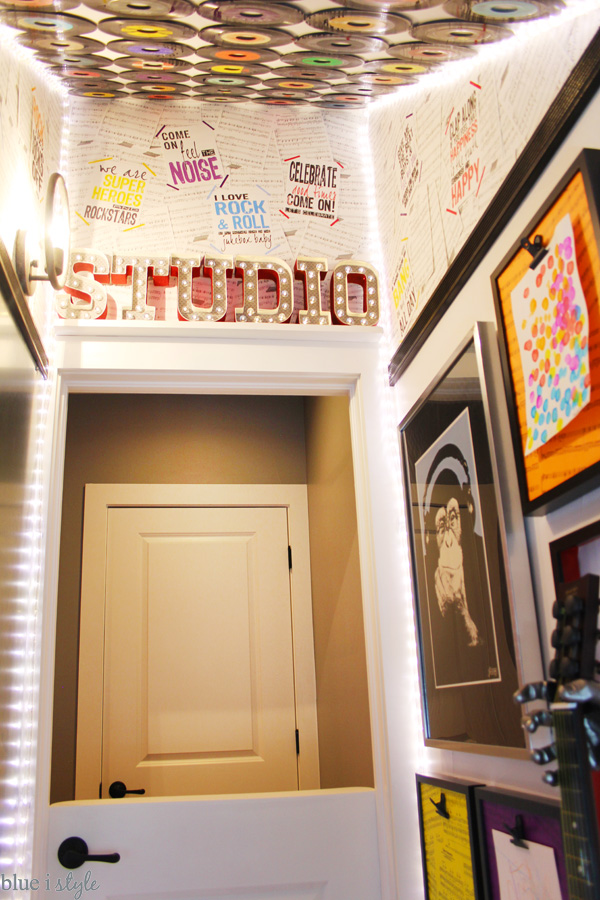 Rock & Roll Under Stair Playroom