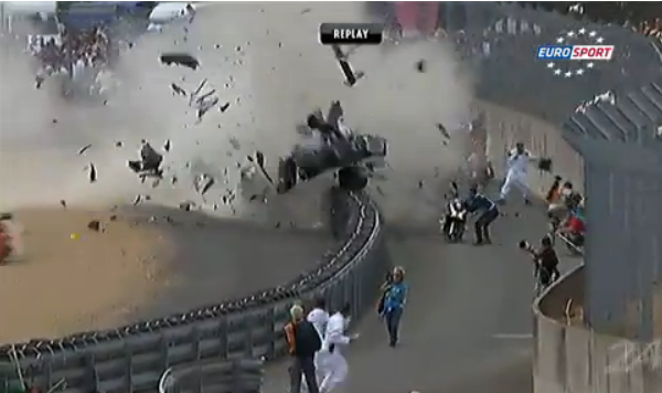 Crash Audi 3 24h du mans