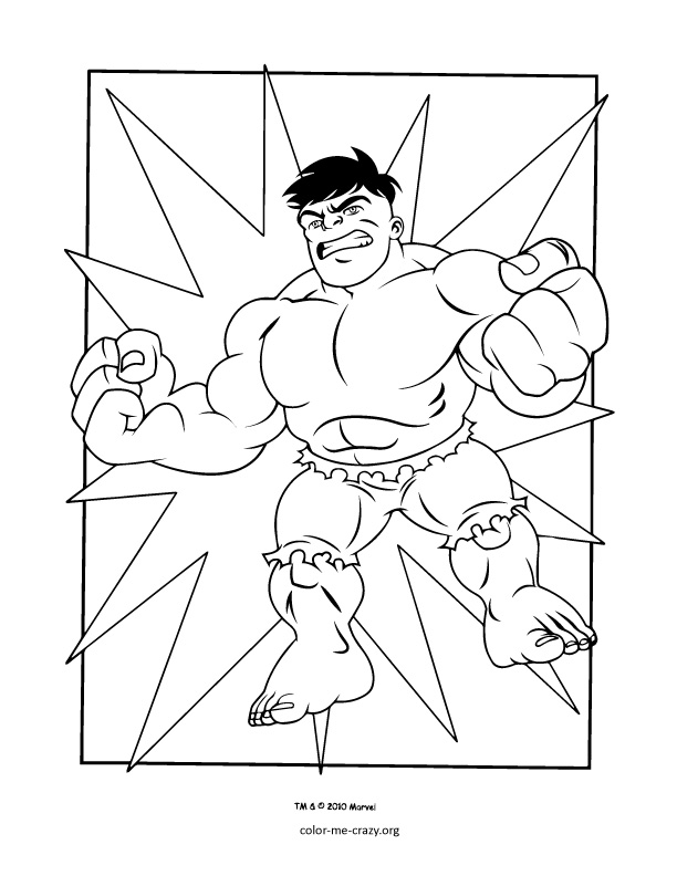super heroes coloring pages - photo#4
