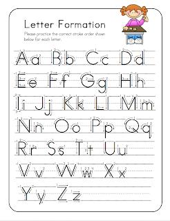 homework for kindergarten to print