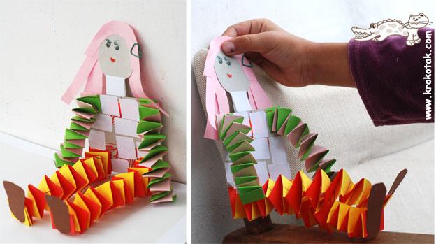 Игрушки из полосок бумаги  видео