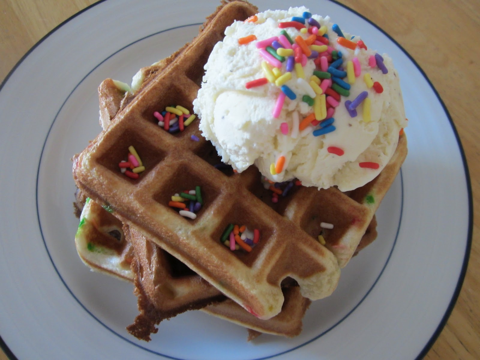 I Saw A Recipe On Pinterest For Cake Waffles Not Too Long Ago The Is Simple Get Boxed Mix Follow Instructions As Normal