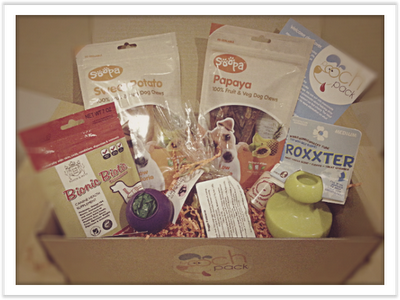 Pooch Pack contents