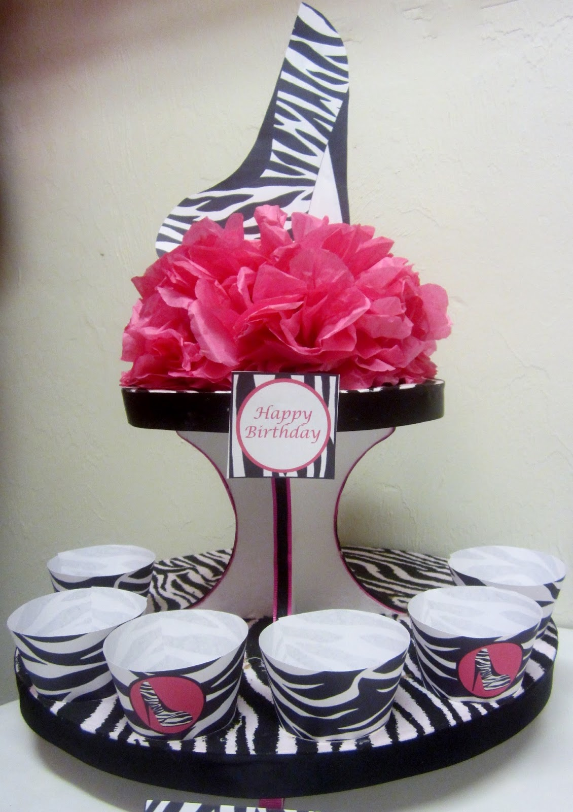 Sweet 16 decorations zebra the image for Decoration zebre