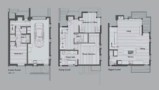 Floor plans of all three floors